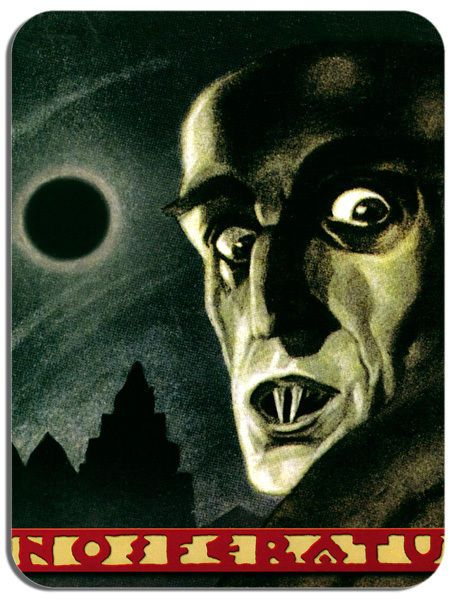 Nosferatu Vintage Movie Poster Mouse Mat. Horror Film Novelty Mouse pad
