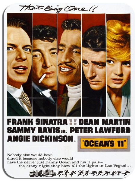 Ocean's 11 Original Movie Poster Mouse Mat. Brat Pack Film Novelty Mouse pad