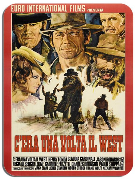 Once Upon A Time In The West Mouse Mat. Movie Poster Mouse Pad Spaghetti Western