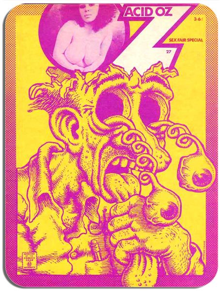 Oz (Magazine) No.27 Cover Mouse Mat. R Crumb  Acid Oz Vintage Undergound Art Culture Mousepad