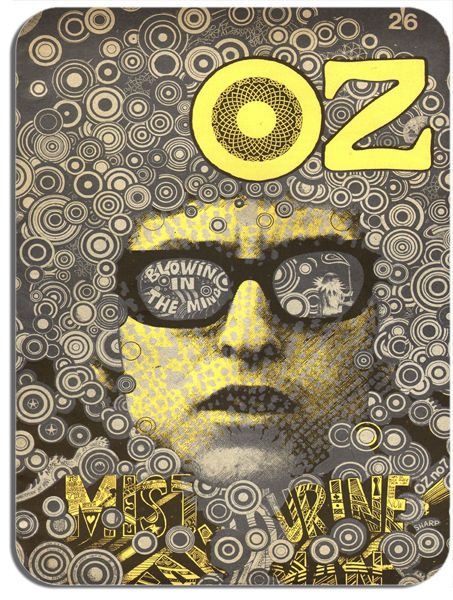 Oz (Magazine) No.7 Cover Mouse Mat. Undergound Art Counter Culture Mousepad