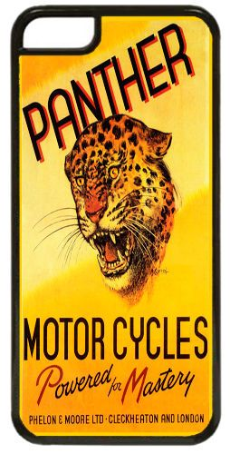 Panther Motorcycles Ad Cover/Case For iPhone 5C. High Quality Motorbike Gift