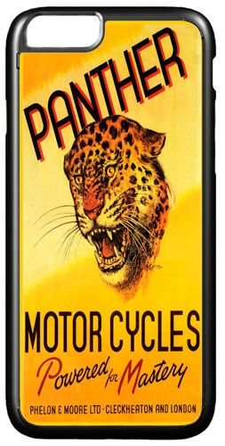 Panther Motorcycles Ad Cover/Case For iPhone 7/7S. Vintage Motorbike Biker Gift