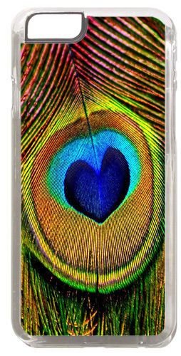 Peacock Feather Print Cover/Case Fits iPhone 6 PLUS + /6 PLUS S. Fine Art Gift