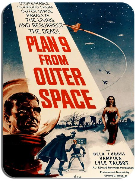Plan 9 From Outer Space Movie Poster Mouse Mat. High Quality Film Mouse pad