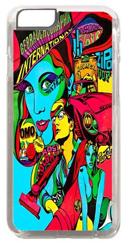 Psychedelic Sixties Poster Cover/Case Fits iPhone 6 PLUS + /6 PLUS S. Art Gift