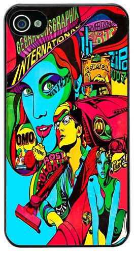 Psychedelic Sixties Poster High Quality Cover/Case For iPhone 4/4S Pop Art Gift