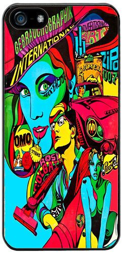 Psychedelic Sixties Poster High Quality Cover/Case For iPhone 5/5S Pop Art Gift
