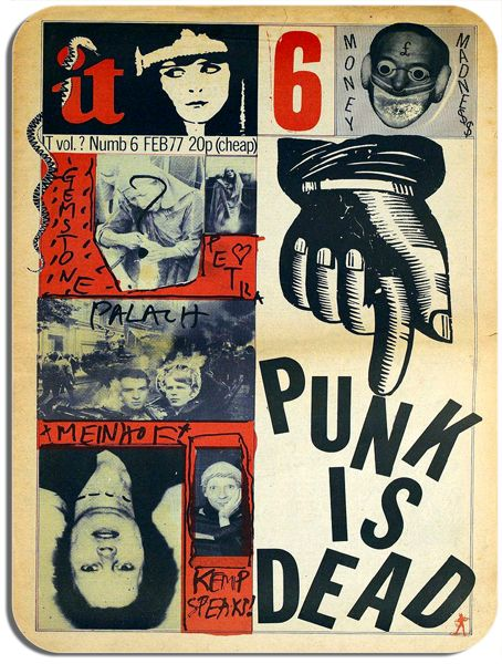 Punk Is Dead Mouse Mat. Vintage International Times Cover   High Quality Mouse Pad