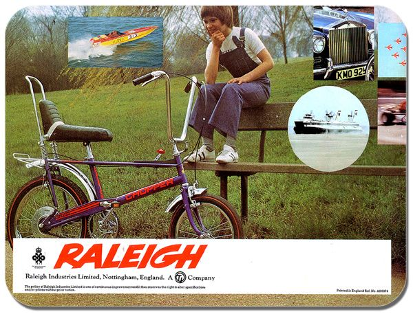 Raleigh Chopper 70's  Bicycle Advert Mouse Mat. High Quality Mouse Pad