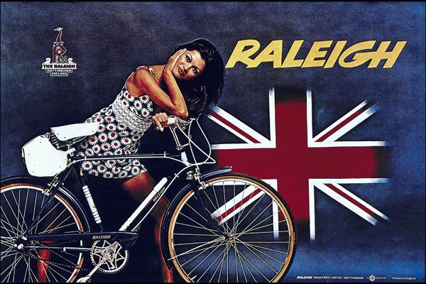 Raleigh Vintage Bicycle Ad T-Shirt. Gents Ladies & Kids Sizes. Cycling Bike Tee