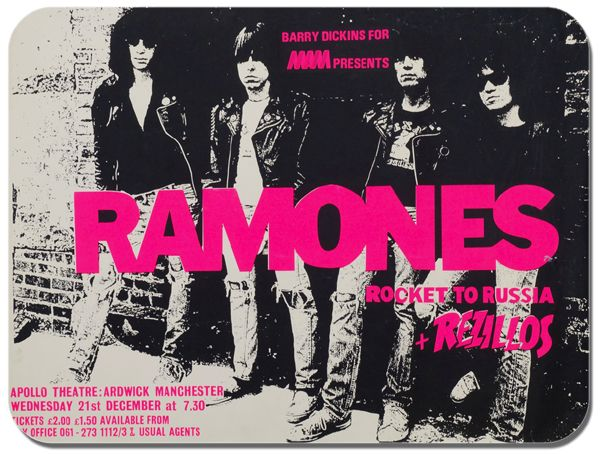 Ramones Rocket To Russia Mouse Mat.  Concert Poster Mouse pad