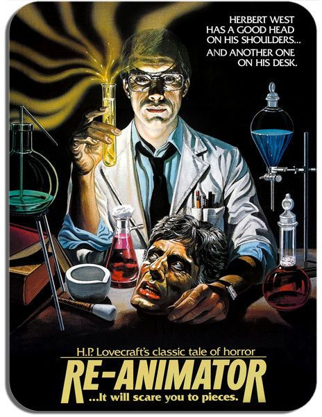 Re-Animator Horror Movie Mouse Mat Cult Movie Film Poster Mouse Pad HP Lovecraft