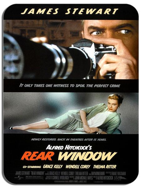 Rear Window Alfred Hitchcock Mouse Mat B. Quality Film Movie Poster Mouse Pad