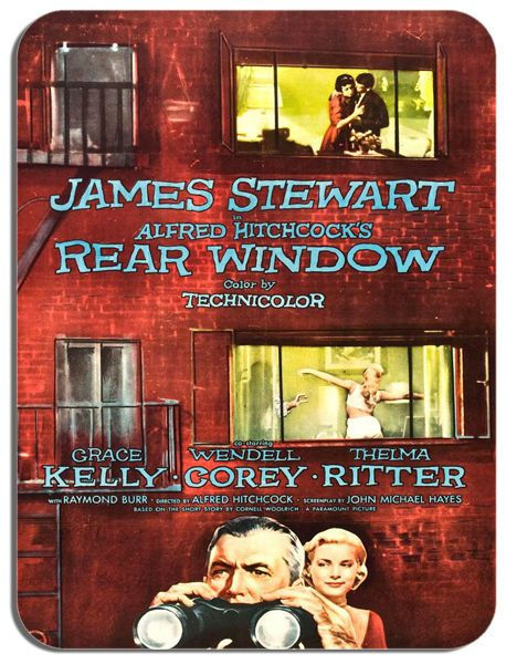 Rear Window Alfred Hitchcock Mouse Mat. High Quality Film Movie Poster Mouse Pad