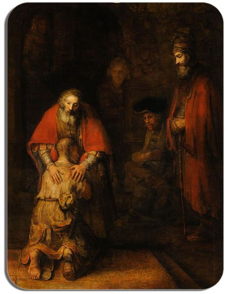 Rembrandt Return Of The Prodigal Son Mouse Mat. High Quality Art Mouse Pad Gift
