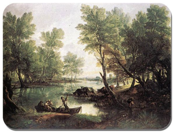 River Landscape Thomas Gainsborough Mouse Mat. Quality Art Print Mouse Pad