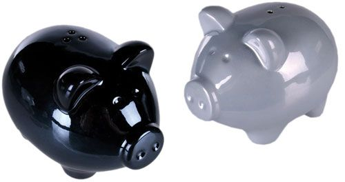Salt and Pepper Pigs Ceramic Salt & Pepper Shakers