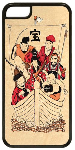 Seven Lucky Gods High Quality Cover Case For iPhone 5C. Japan Tradition Art Gift
