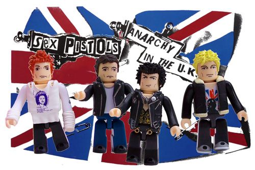 Sex Pistols Tribute Kubrick Block Figure Punk Rock T Shirt