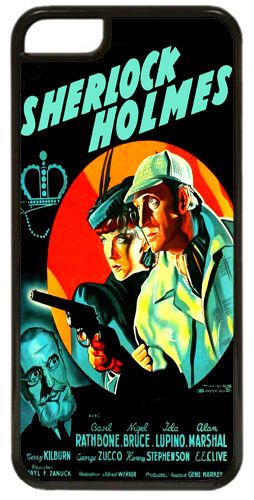 Sherlock Holmes Movie Poster Cover/Case Fits iPhone 5C. Adventures Of. Classic