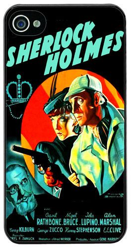 Sherlock Holmes The Adventures Of Movie Poster Cover/Case Fits iPhone 4/4S. Gift
