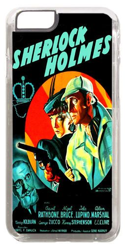 Sherlock Holmes The Adventures Of Movie Poster Cover/Case Fits iPhone 6/6S Gift