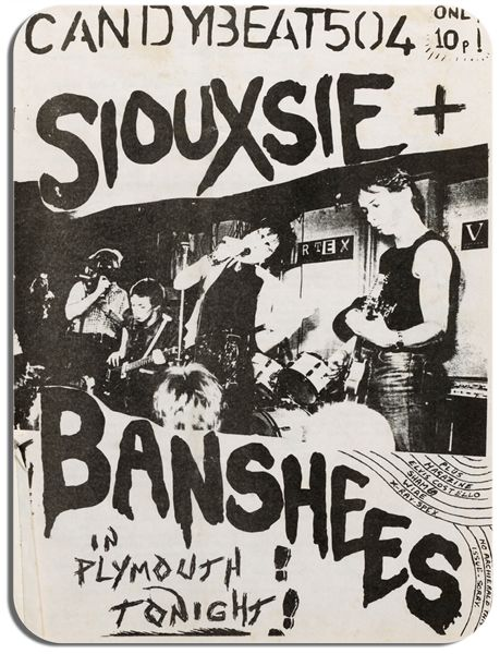 Siouxsie And The Banshees Gig Flyer Poster Mouse Mat. High Quality Mouse Pad
