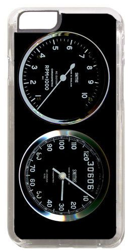 Smiths Rev Counter/Tacho & Speedo Gauge Cover/Case For iPhone 6/6S Motorcycle