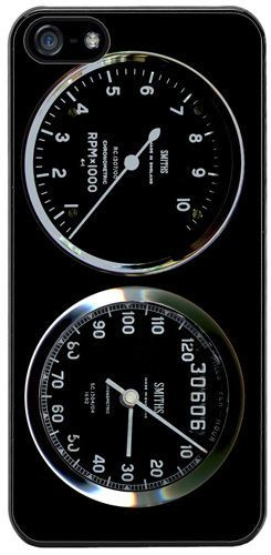 Smiths Rev Counter/Tacho & Speedo Rubber Cover/Case For iPhone 5/5S Motorcycle
