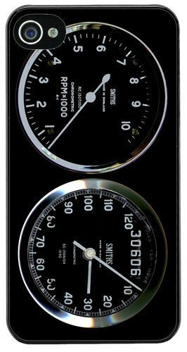Smiths Rev Counter/Tachometer & Speedometer Gauge Cover/Case For iPhone 4/4S