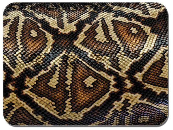 Snake Skin Pattern Mouse Mat. Reptile Print Mouse Pad. Top Quality Mouse Mat