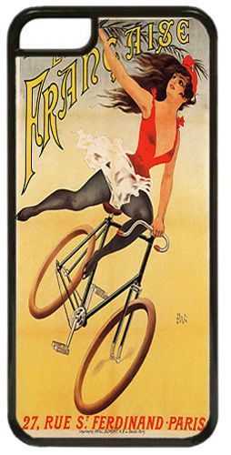 Societe La Francaise Bicycle Poster Cover/Case For iPhone 7/7S Bike Cycling Gift