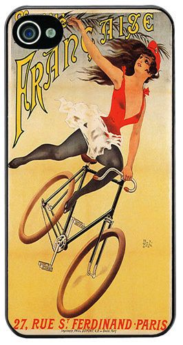 Societe La Francaise Bicycle Poster HD Quality Cover/Case For iPhone 4/4S Cycle