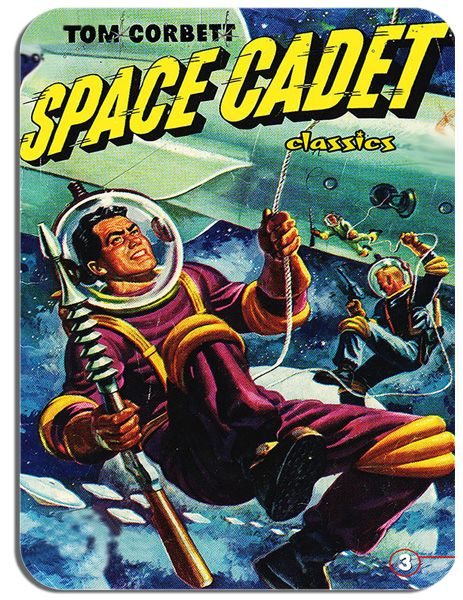 Space Cadet Comic Mouse Mat. Classic Tom Corbett Inspired Mouse Pad