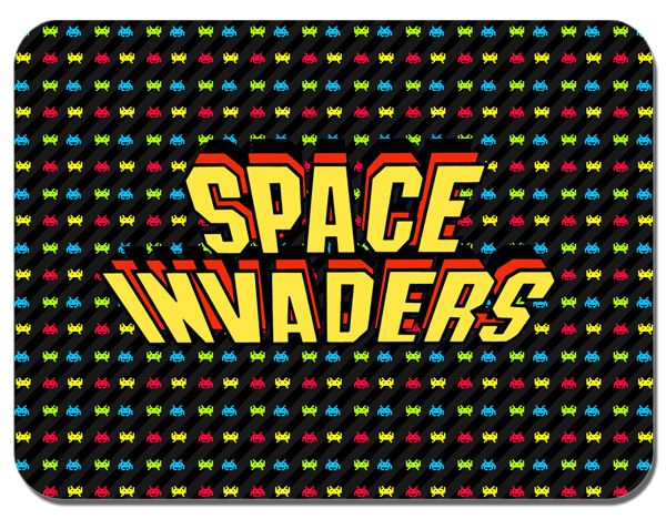 Space Invaders Arcade Video Game Mouse Mat Classic Mouse Pad
