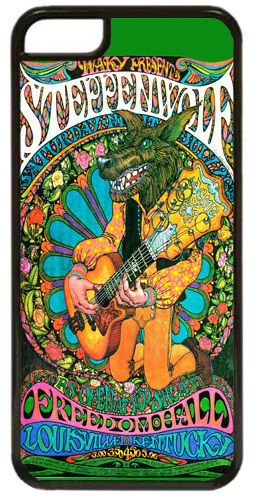 Steppenwolf Vintage Concert Poster High Quality Cover/Case Fits iPhone 5C. Rock