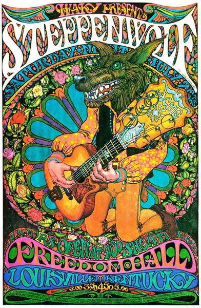 Steppenwolf Vintage Concert Poster Psychedelic T-Shirt Gents Ladies & Kids Sizes