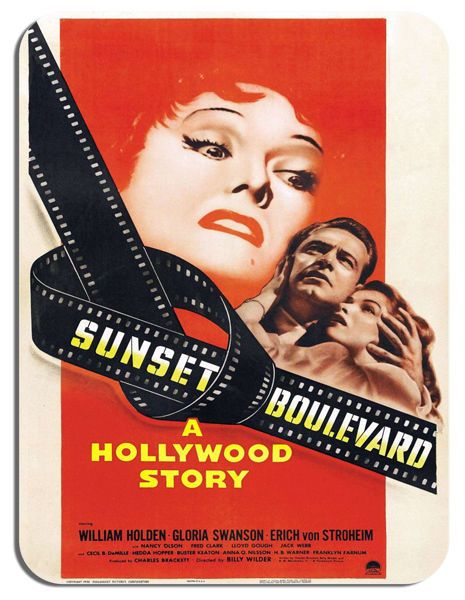 Sunset Boulevard Mouse Mat. Film Movie Poster Quality Mouse Pad Gloria Swanson