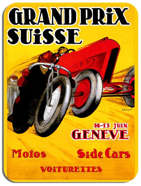 Swiss Grand Prix Bike/Car Poster Mouse Mat. Motorcycle GP Race Mouse pad Bike
