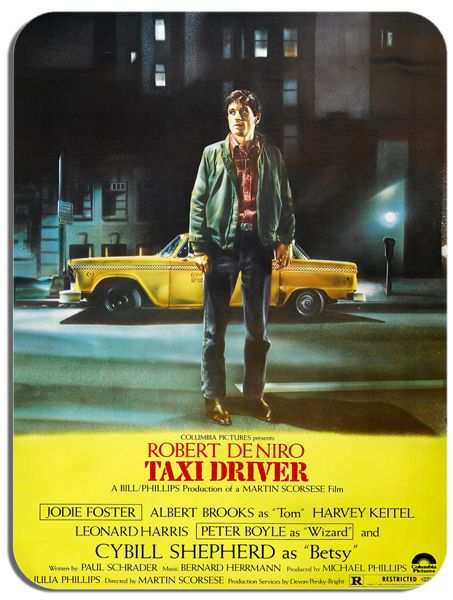 Taxi Driver Movie Poster Mouse Mat. High Quality New York Film Poster Mouse pad