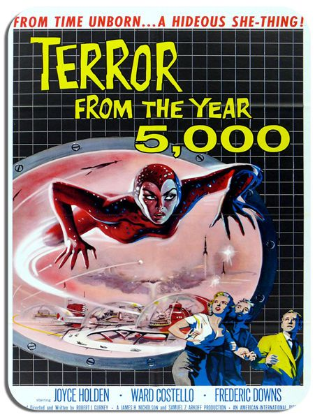 Terror From The Year 5000 Sci Fi Movie Poster Mouse Mat. Film Novelty Mouse pad