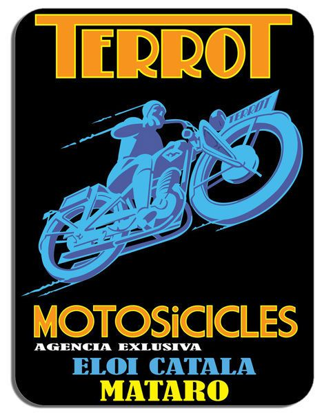 Terrot  Classic Bike Mouse Mat Motorcycle Motorbike Biker Mouse pad