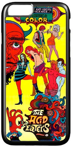 The Acid Eaters Movie Poster Cover/Case For iPhone 7/7S. Quality 60s Psychedelic