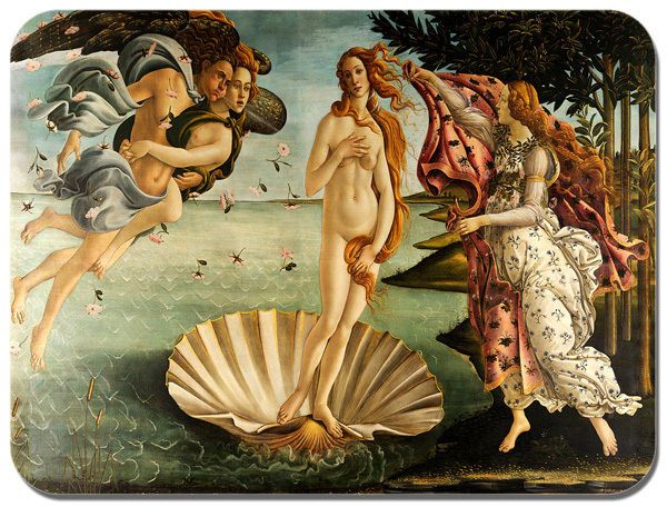 The Birth of Venus Mouse Mat Sandro Botticelli. High Quality Art Mouse Pad Gift