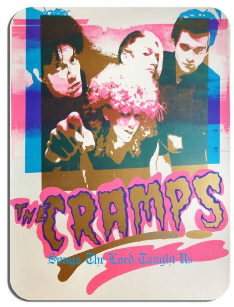 The Cramps Promo Poster Mouse Mat. Songs The Lord Taught Us Mouse Pad