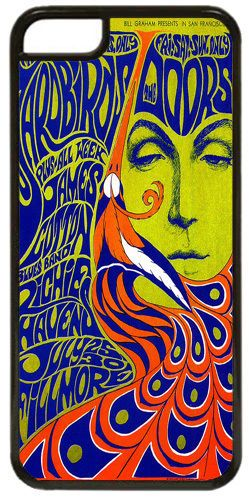 The Doors & The Yardbirds Concert Poster Cover Fits iPhone 5C. Quality Case Gift