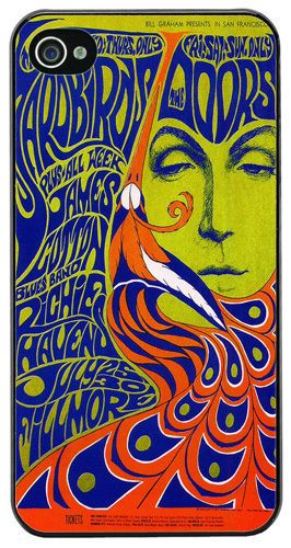 The Doors & The Yardbirds Poster High Quality Cover/Case Fits iPhone 4/4S. Psyc