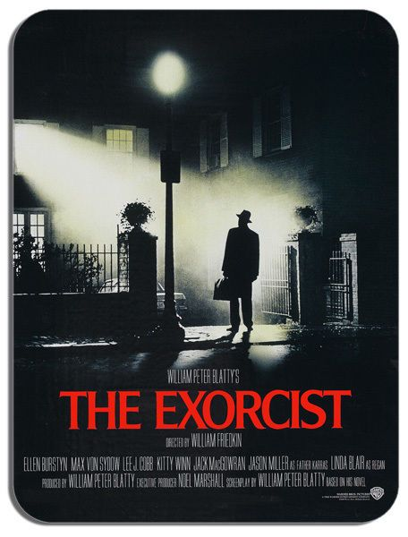 The Exorcist Vintage Movie Poster Mouse Mat. Horror Film Novelty Mouse pad