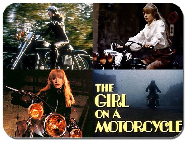 The Girl On A Motorcycle Movie Stills Mouse Mat Motorbike Mouse pad. Marianne